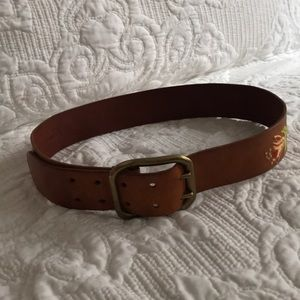 Accessories - Anthropologie Vintage Linea Pelle embroidered belt